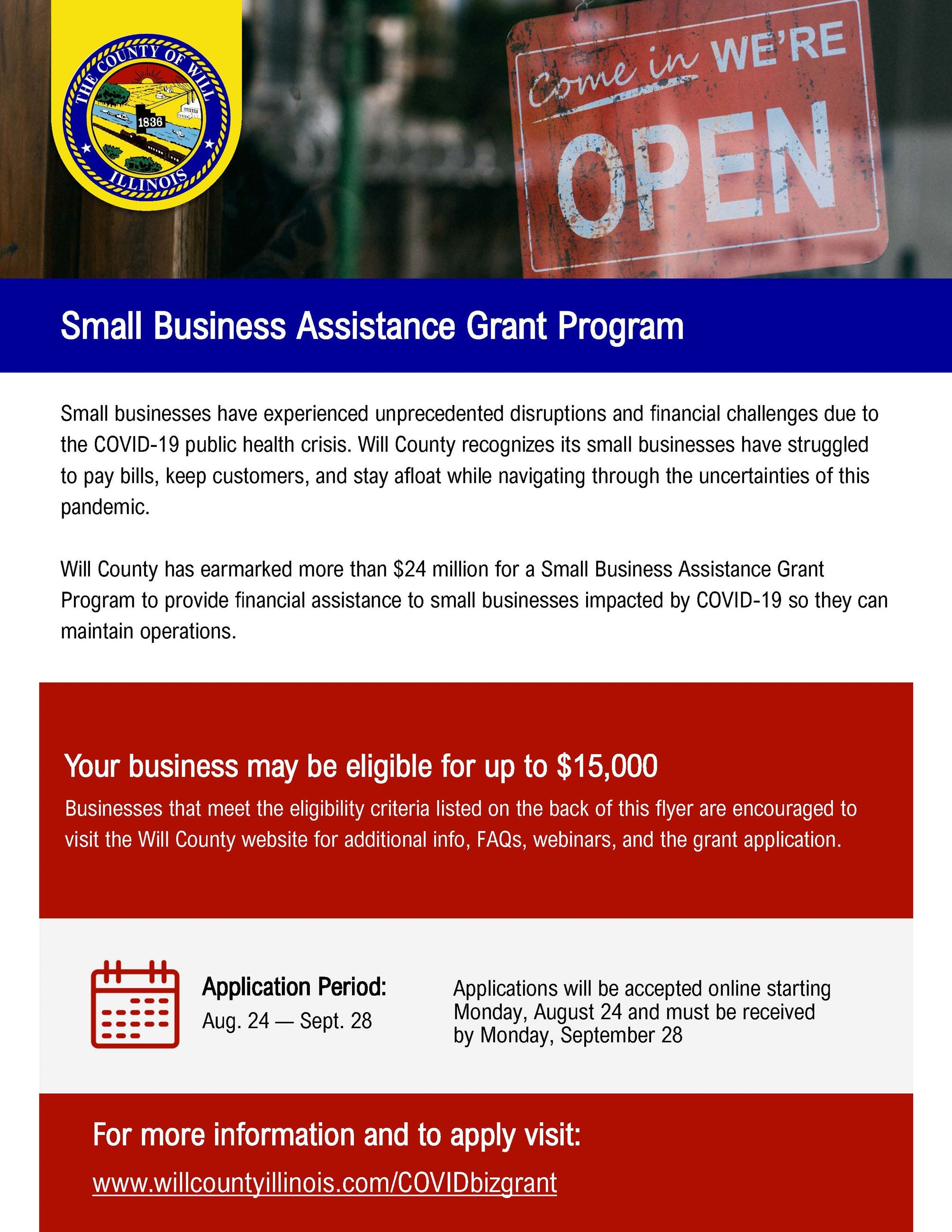 Will County Small Business Grant Program Flyer_v5_Page_1